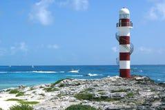 Fyr Cancun, Mexico arkivfoto
