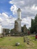 Fyr Colonia de Sacramento, Uruguay Arkivbild