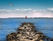 Fyr för Chesapeakefjärd Fotografering för Bildbyråer