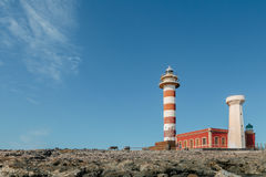 Fyr för El Cotillo, Fuerteventura Royaltyfri Fotografi