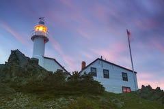 Fyr för hummerliten vikhuvud, Newfoundland royaltyfria bilder