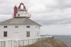 Fyr för Newfoundland NL historisk uddespjut Arkivbilder