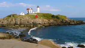 Fyr för ` för Nubble för uddeNeddick `, York, Maine Fotografering för Bildbyråer
