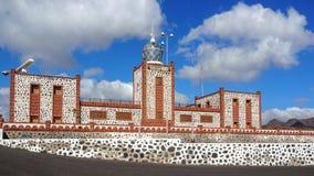 Fyr Faro de la Entallada, Fuerteventura Arkivbild