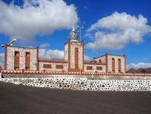 Fyr Faro de la Entallada, Fuerteventura Royaltyfri Foto