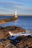 Fyr i Aberdeen, Skottland Fotografering för Bildbyråer