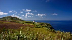 Fyr i Azores royaltyfria foton