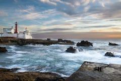 Fyr i Cabo Raso, Portugal Fotografering för Bildbyråer