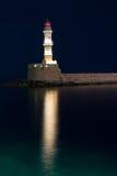 Fyr i Chania, Kreta, Grekland Fotografering för Bildbyråer