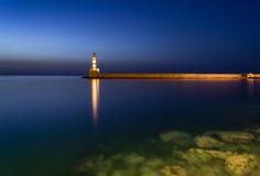 Fyr i Chania, Kreta, Grekland Royaltyfri Foto