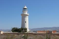 Fyr i Cypern Arkivfoto
