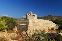 Fyr i den forntida Lycian staden Patara kalkon royaltyfri fotografi