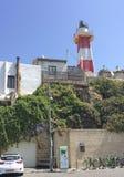 Fyr i gamla Yaffo (Jaffa, Yafo), Tel Aviv, Israel Royaltyfria Foton