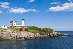Fyr i Maine Arkivfoton