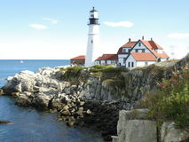 Fyr i Portland Maine Royaltyfri Foto