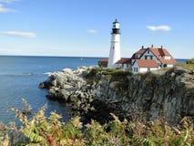Fyr i Portland Maine Royaltyfri Fotografi