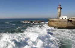 Fyr i Porto, Portugal Fotografering för Bildbyråer