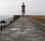 Fyr i Porto, Portugal Arkivbilder