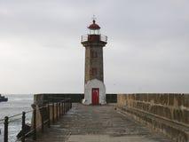 Fyr i Porto, Portugal Arkivbild
