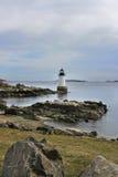 Fyr i Salem, Massachusetts Royaltyfria Bilder