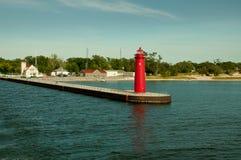 Fyr Muskegon, Michigan Arkivbild