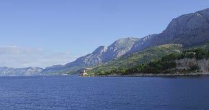 Fyr nära Makarska Royaltyfri Bild
