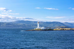 Fyr nära Oban, Skottland Royaltyfri Foto