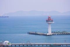 Fyr och Marine Port Royaltyfri Fotografi