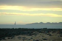 Fyr- och sanddynkontur Royaltyfria Bilder