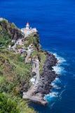 Fyr på Azores öSao Miguel Royaltyfri Foto
