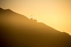 Fyr på den stora Sur kustlinjen Arkivfoto