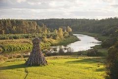 Fyr på den Ugra floden NICOLA-LENIVETS Ledare 19 09 2016 Arkivbilder
