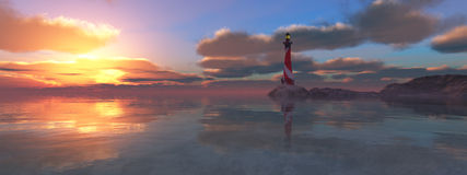 Fyr på kusten royaltyfri fotografi