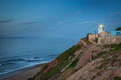 Fyr på kusten av Sidi Ifni Royaltyfria Foton
