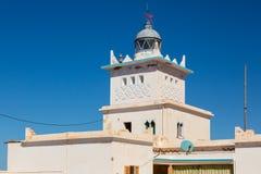Fyr på kusten av Sidi Ifni Royaltyfri Foto