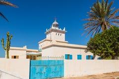 Fyr på kusten av Sidi Ifni Arkivbilder
