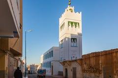 Fyr på kusten av Sidi Ifni Arkivfoto