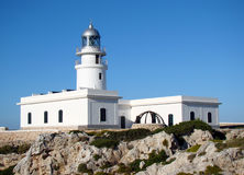 Fyr på Lock de Cavalleria, Menorca Fotografering för Bildbyråer