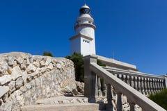 Fyr på locket de Formentor, Majorca Royaltyfri Fotografi