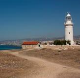 Fyr på Paphos, Cypern Royaltyfri Fotografi