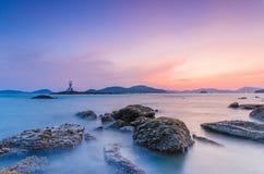 Fyr på Phuket Arkivfoto