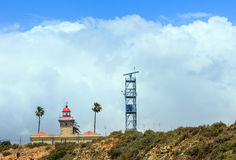Fyr på Ponta da Piedade udde Lagos, Algarve, Portugal arkivbilder