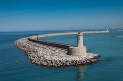 Fyr på porten av Livorno Italien arkivbild