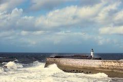 Fyr på Whitehaven Royaltyfria Foton