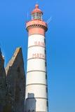 Fyr Pointe de Saint-Mathieu Arkivbild