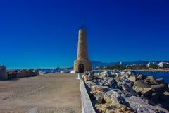 Fyr Port av Puerto Banus royaltyfria foton