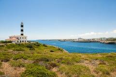 Fyr Portocolom, Majorca (Mallorca) Arkivfoto