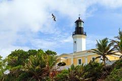 fyr Puerto Rico Royaltyfri Fotografi