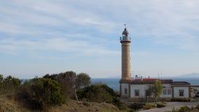 Fyr-Punta carnero-algeciras-SPANIEN Arkivfoto