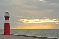 Fyr vid det nordliga havet Fotografering för Bildbyråer